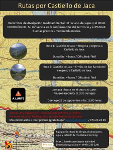 Cartel RECORRIDOS Castiello de Jaca 4 RUTAS
