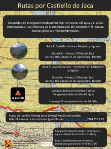 Cartel RECORRIDOS Castiello de Jaca 4 RUTAS_ok